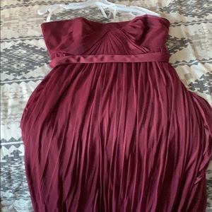 "Maroon""bridesmaid"" dress"